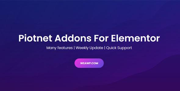 Piotnet Addons Pro For Elementor Pro Nulled