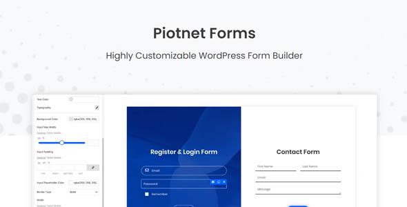 Piotnet Forms Pro Nulled – WordPress Form Builder