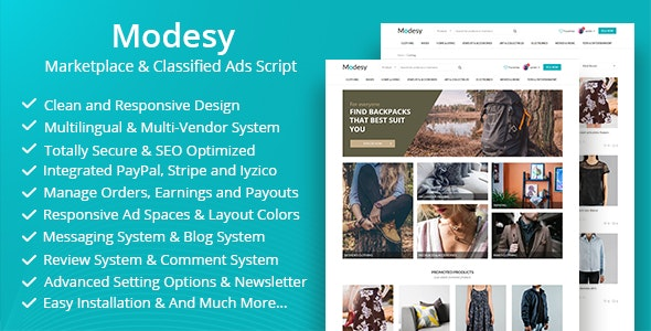 Modesy Nulled – Marketplace & Classified Ads Script
