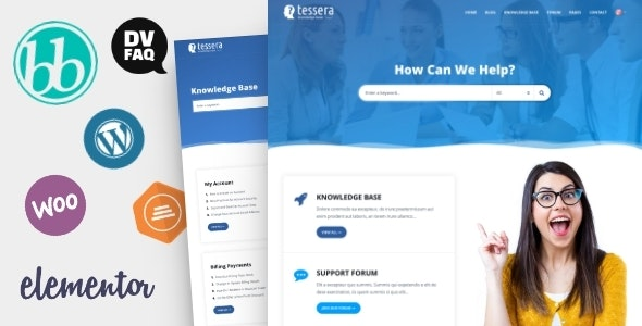 Tessera – Knowledge Base WordPress Theme Free Download